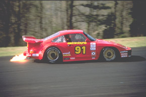 Porsche 930S/935 turning onto the back straight at Road Atlanta