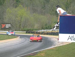 Porsche 930S/935 taking the finish flag at Road Atlanta for another high finish